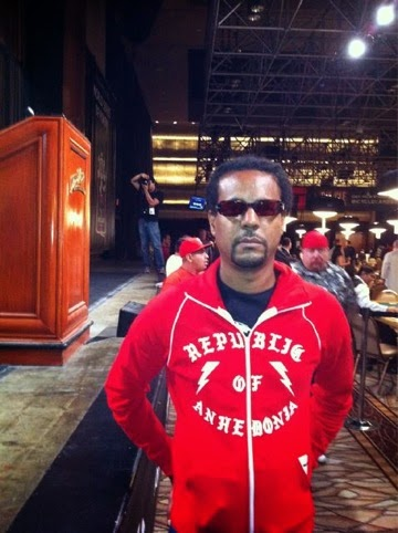The author, Colson Whitehead, representing his country at the WSOP Main Event 2011.